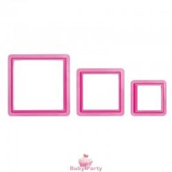 Set 3 Tagliapasta Quadrati Decora