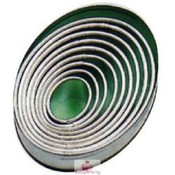 Set 9 Coppapasta In Metallo Ovali Lisci Pavoni