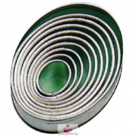 Set coppapasta in metallo ovali lisci Pavoni 9 pz