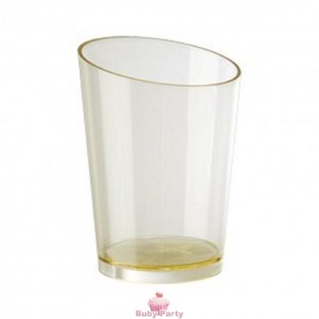 20 Bicchierini Elite Rotondi In Plastica Trasparente Modecor