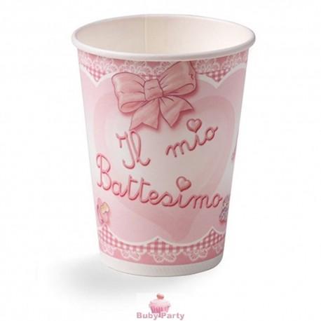 Bicchieri il mio Battesimo rosa 10 pz