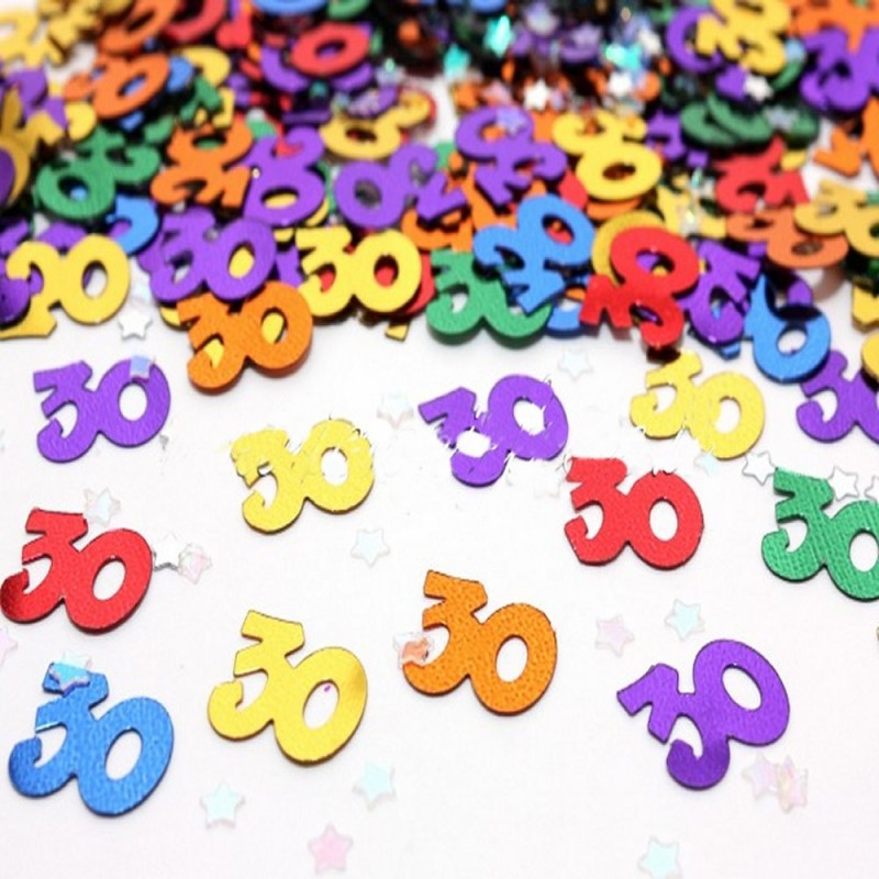 Coriandoli Decorativi Da Tavolo Numero 30 Multicolore Magic Party
