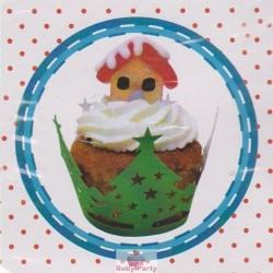 12 Wrapper Natalizio Per Decorare Cupcake