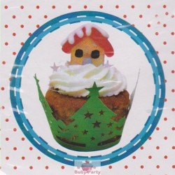 Wrapper natalizio per decorare cupcake 12 pz