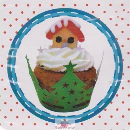 Wrapper natalizio per decorare cupcake 12 pz