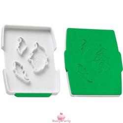 Set tagliapasta e stampa foglie in pasta di zucchero Wilton