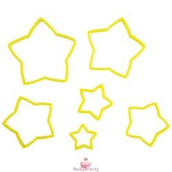 Set tagliapasta stella per biscotti 6 pz