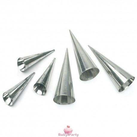 Stampi coni grandi in alluminio 8 pz Decora