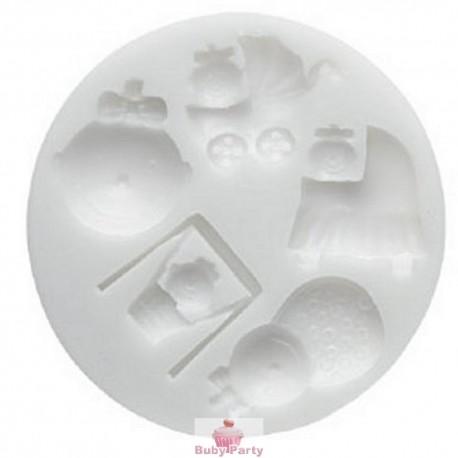Stampo in silicone Baby nascita battesimo Silikomart