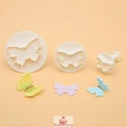Set 3 Stampi Ad Espulsione Farfalla Per Pasta Di Zucchero Modecor