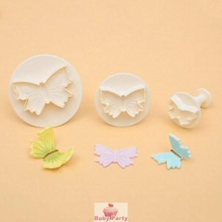 Stampi ad espulsione farfalla per pasta di zucchero Modecor 3 pz