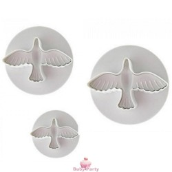 Set 3 Stampi Ad Espulsione Colombe Modecor