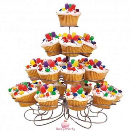 Supporto in alluminio per 23 muffin e cupcake Wilton
