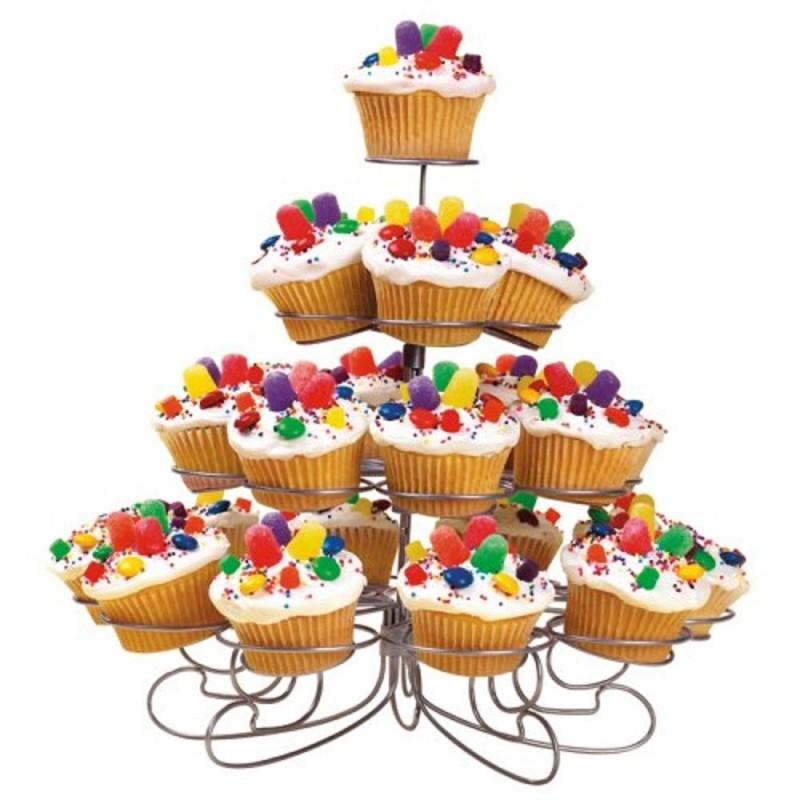 Supporto In Alluminio Per Muffin E Cupcake Con 23 Basi Wilton