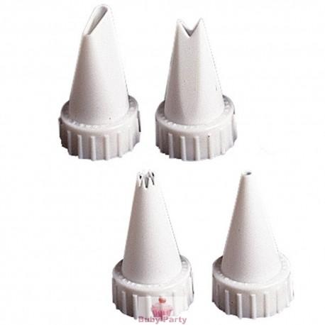 Set 4 Cornetti In Plastica Per Tubo Ghiaccia Reale Wilton