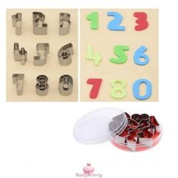 Set Tagliapasta Numeri In Metallo Modecor