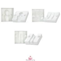 Stampo Bimbo 3D Per Pasta Di Zucchero 6 pz Modecor