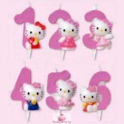 Candela numerale Hello Kitty per torta di compleanno