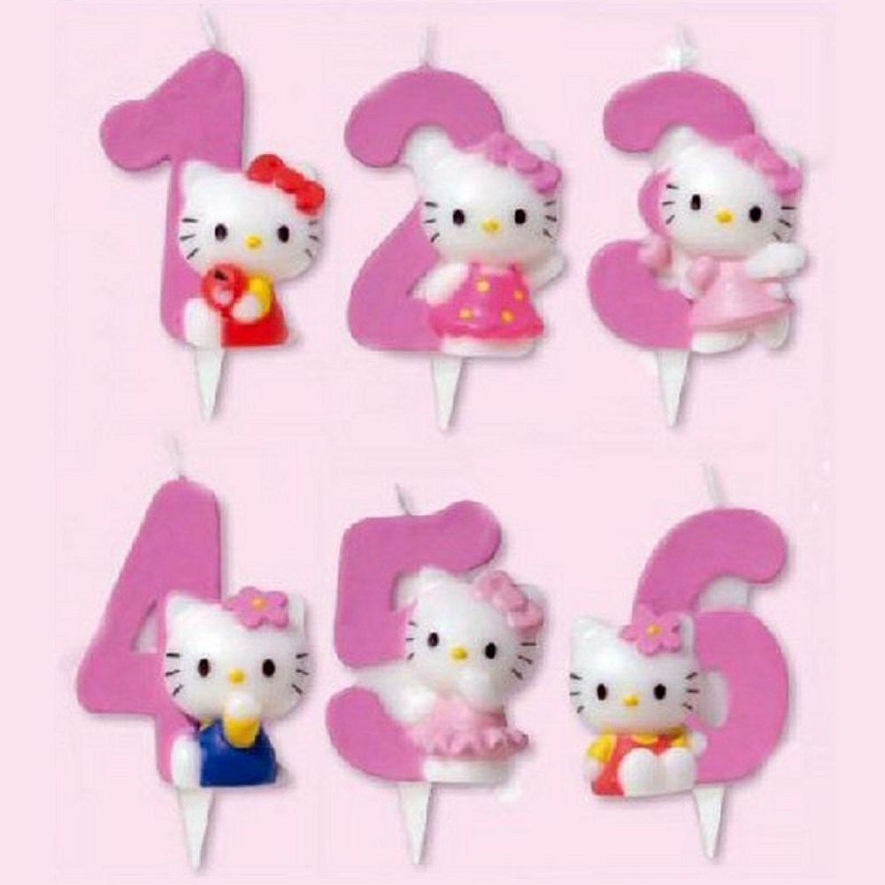 Candela Numerale Hello Kitty Per Torta Compleanno   Buby Party Store