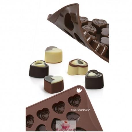 Stampo in silicone per cioccolatini a cuore Pavoni