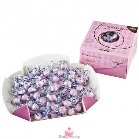Confetti Crispo Snob lieto evento nascita o battesimo rosa 500 gr