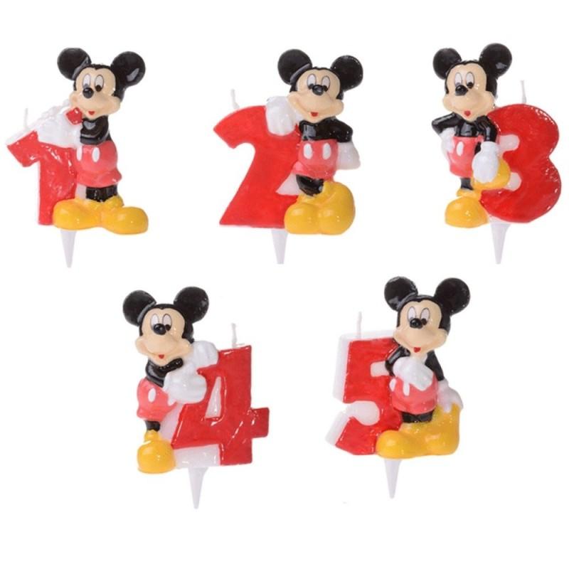 Candela Numerale Topolino Disney Per Torta Di Compleanno