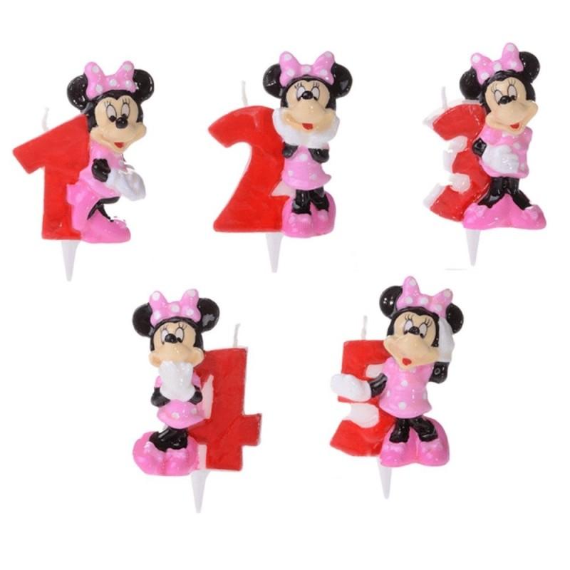 Candela Numerale Minnie Disney Per Torta Di Compleanno