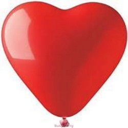 Palloncini a cuore rossi in lattice 10 pz gonfiaggio aria o gas elio
