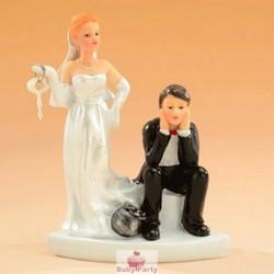 Topper Cake Matrimonio Palla Al Piede Modecor