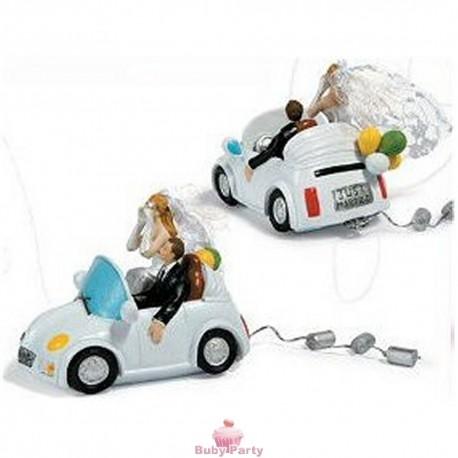 Topper Cake Matrimonio Sposi In Auto Ambra's