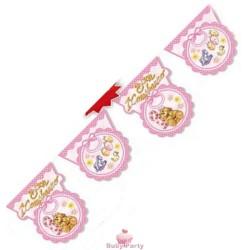Festone party rosa Buon 1° compleanno mt 3 Magic Party