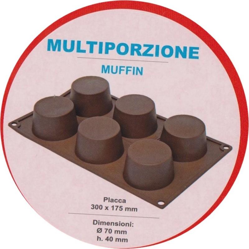 Stampo In Silicone Per Muffin 6 Cavità Pavoni