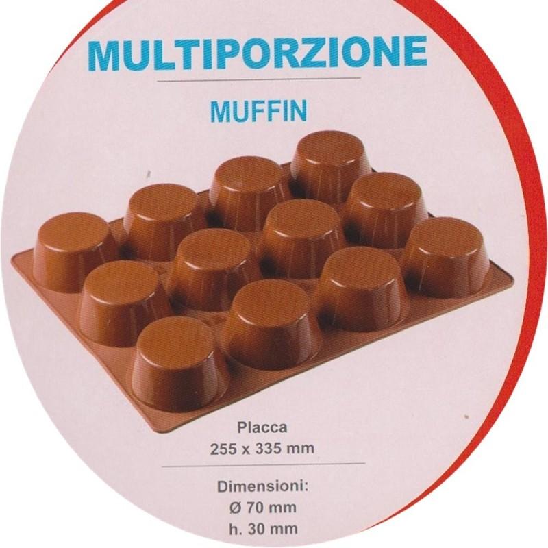 Stampo Silicone Per Muffin 12 Cavità Pavoni