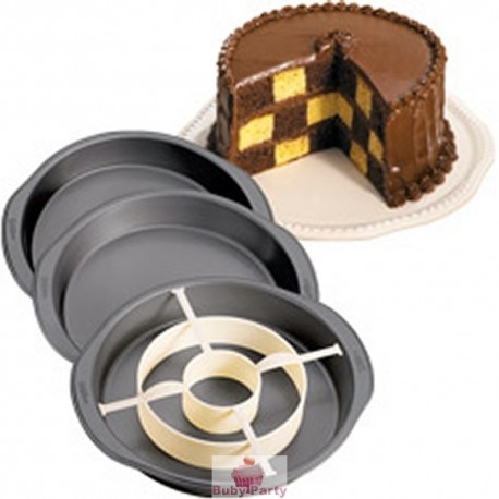 Set Torta A Scacchiera 4 pz Wilton