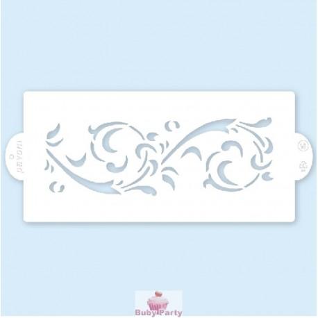 Stencil a fascia per decorazioni su pasta di zucchero Pavoni mod 04