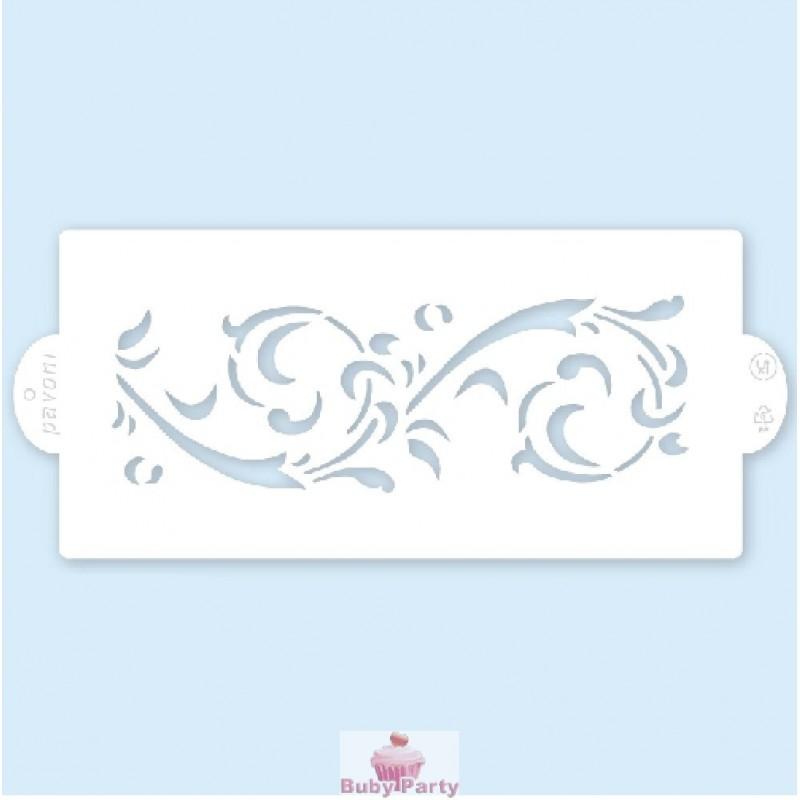 Stencil a fascia della pavoni per decorazioni su torte for Stencil da stampare per cucina