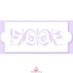 Stencil a fascia per decorazioni su pasta di zucchero mod 10 Pavoni