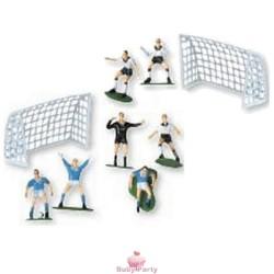 Kit Calcio Per Torta Con Porte E Calciatori 9 pz Modecor