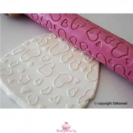 Matterello Decorativo Cuori Per Pasta Di Zucchero Silikomart