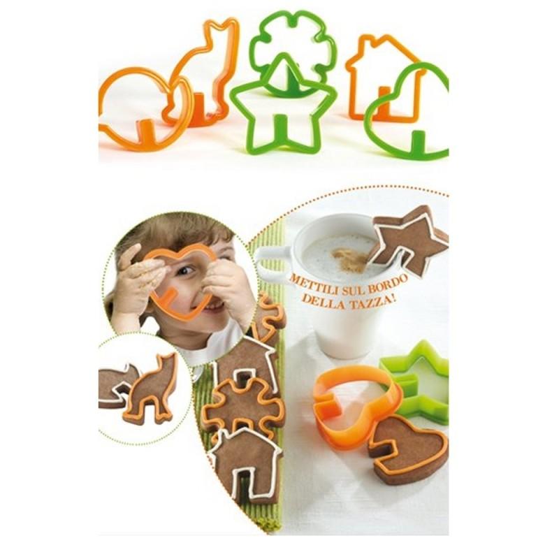Set 12 Tagliapasta Biscotti Da Latte Assortiti Pavoni