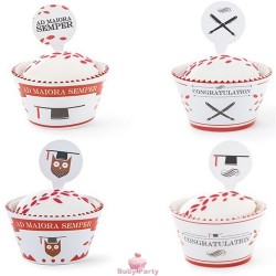 Wrapper laurea per decorare cupcake 24 pz Decora