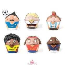 Wrappers world cup per decorare cupcake 24 pz Decora