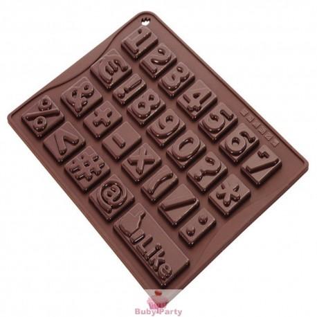 Stampo in silicone per numeri di cioccolato Silikomart