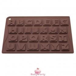 Stampo In Silicone Per Lettere Di Cioccolato O Isomalto Pavoni
