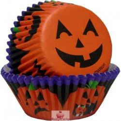 Pirottini muffin zucca sorridente Halloween 75 pz Wilton