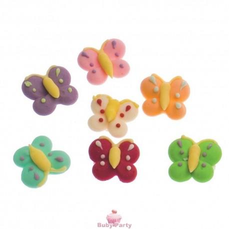 12 Farfalle In Zucchero Per La Decorazione Di Dolci Decora