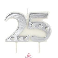 Candela per torta 25 Anniversario Modecor