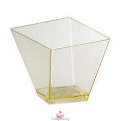 30 Bicchierini Elite Rombo In Plastica Trasparente Modecor