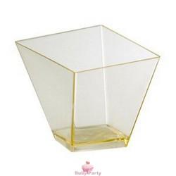 Bicchierino elite rombo in plastica trasparente 30 pz Modecor