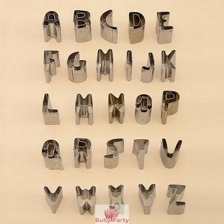 26 Tagliapasta Lettere Alfabeto In Acciaio Per Pasta Di Zucchero Modecor